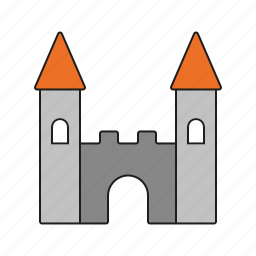 architecture, building, castle, fort, fortress, toys icon