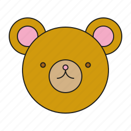 bear, face, kids, teddy, toys icon