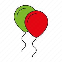 balloons, celebration, festive, holiday, party, toys icon