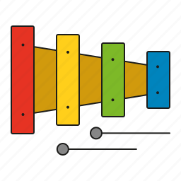 music, musical instrument, percussion, sound, toys, xylophone icon