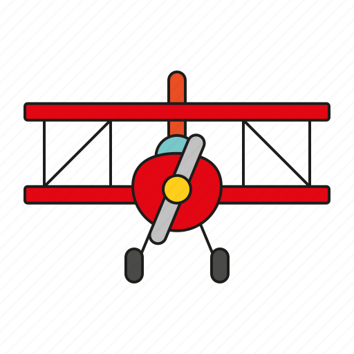 aeroplane, aircraft, airplane, doubledecker, plane, toys icon