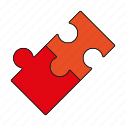 game, jigsaw, pieces, playing, puzzle, toys icon