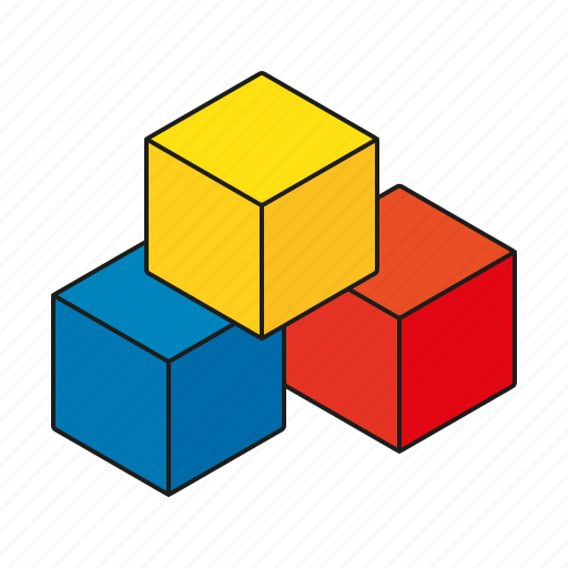babies, blocks, bricks, building, children, kids, toys icon