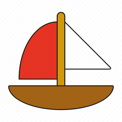 boat, sailboat, sailing, ship, toys, vessel icon