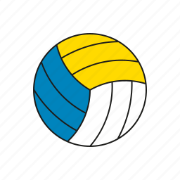 ball, beach, equipment, games, olympics, sports, volleyball icon
