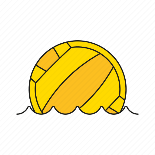 ball, equipment, games, olympics, sports, water polo, water sports icon
