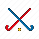 equipment, field hockey, games, hockey, olympics, sports, sticks icon