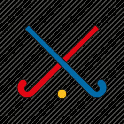 equipment, field hockey, games, hockey, olympics, sports, sticks icon