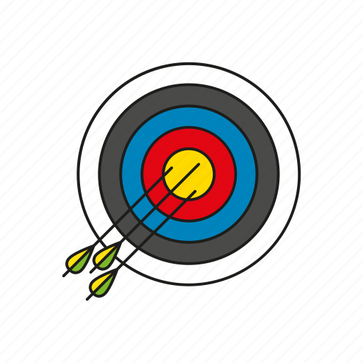 archery, arrows, equipment, games, olympics, sports, target icon