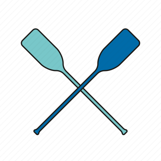 equipment, games, olympics, paddles, rowing, sports, water sports icon