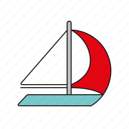equipment, games, olympics, sail, sail boat, sailing, sports icon