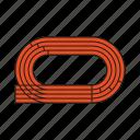 equipment, games, olympics, running, sports, stadium, track icon