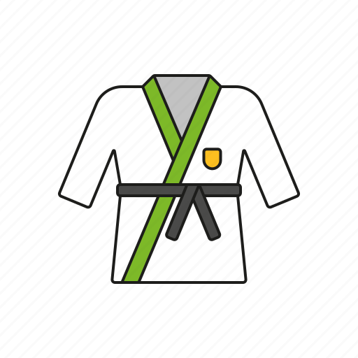 combat sports, equipment, games, judogi, olympics, sports, suit icon