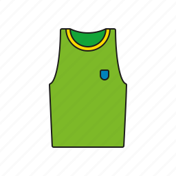 equipment, games, muscle shirt, olympics, sports, sports wear, tank top icon
