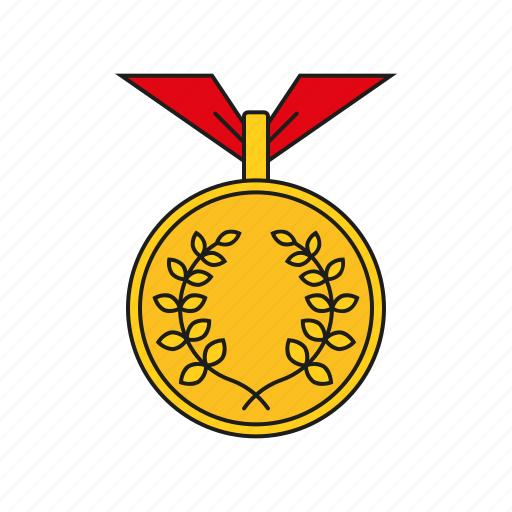 equipment, games, gold, medal, olympics, sports, winner icon