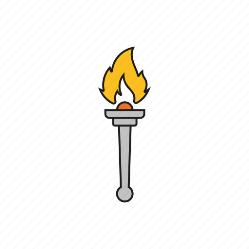 equipment, fire, flame, games, olympics, sports, torch icon