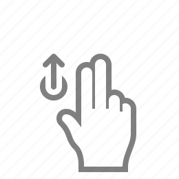 double, fingaz, fingers, gesture, gesturicons, grab, hand, palm, slide, swipe, tap, touch, up, zoom icon
