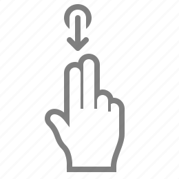 double, down, fingaz, fingers, gesture, gesturicons, grab, hand, palm, slide, swipe, tap, touch, zoom icon