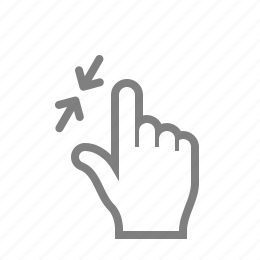 double, fingaz, fingers, gesture, gesturicons, grab, hand, in, palm, slide, swipe, tap, touch, zoom icon