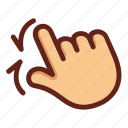 fingers, hand, screen touch, two fingers zoom, zoom, zoom in icon