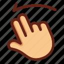fingers, hand, screen swipe, screen touch, swipe, two fingers swipe, two fingers touch icon