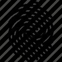 biometric authentication, biometric identification, dactylogram, finger scanning, fingerprint, security access authorization, thumb print icon
