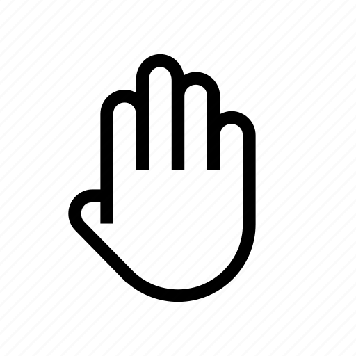 fingers, hand, hand-gesture icon