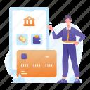 online, mobile, banking, smartphone, money, finance, business