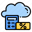accounting, cloud, financial, fintech, interest, platform, tax icon