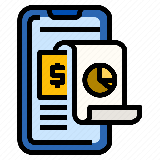 Analysis, expense, graph, management, mobile, money icon - Download on Iconfinder
