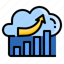 analysis, cloud, financial, fintech, growth, platform, service icon