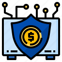 cloud, financial, fintech, insurance, money, safety, security icon
