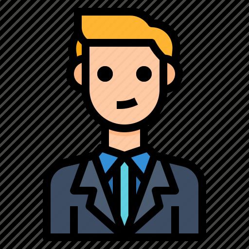avatar, business, businessman, worker icon