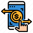 online, payment, transaction, transfer icon