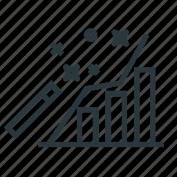 data, fintech, improve, magic, wand icon