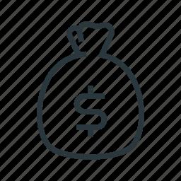 bag, cash, dollar, money icon