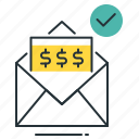 mail money, money transfer, transfer money icon