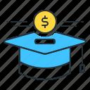 education, education funds, education savings, savings, scholarship icon
