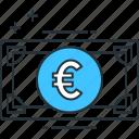 eur, euro icon