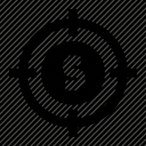 business, dart, fintech, market, target icon