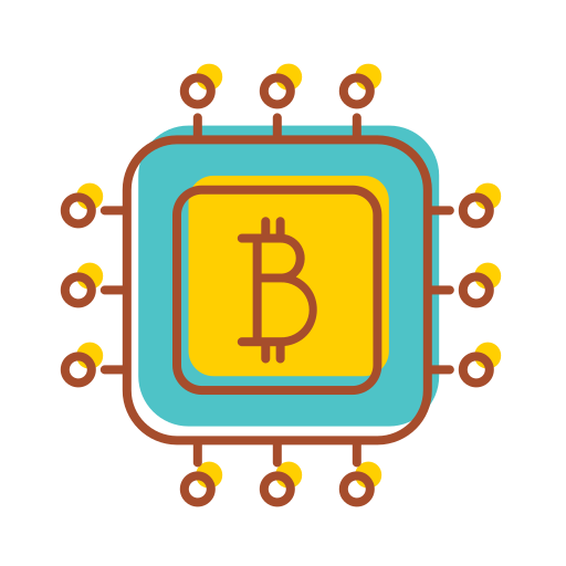 bank, bitcoin, chipset, financial, internet, technology icon