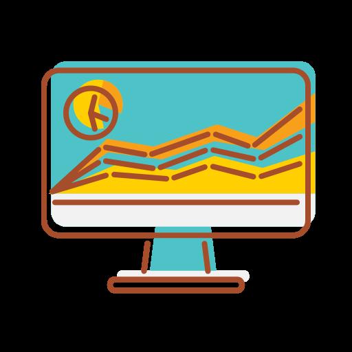 bank, data, financial, internet, technology, visualization icon