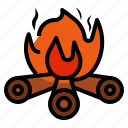 bonfire, burn, camping, combustion, fire, flame icon