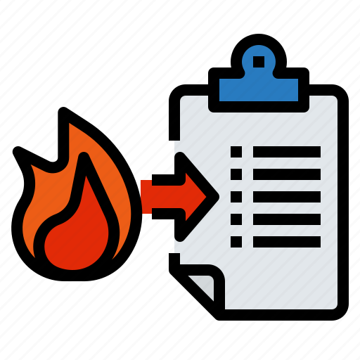 burn, emergency, fire, management, practice icon