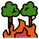 burn, destroy, disaster, fire, forest, wildfire, wildland icon
