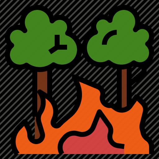 burn, destroy, disaster, fire, forest, wildfire, wildland icon