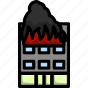 danger, fire, home, hotel, emergency, building, house