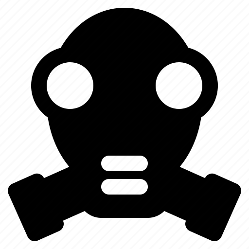 chemical, fire, gas, mask, respirator, weapon icon