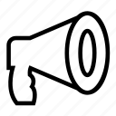 announcement, firefighting, loud, megaphone icon