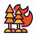fire, firefighters, forest, tree